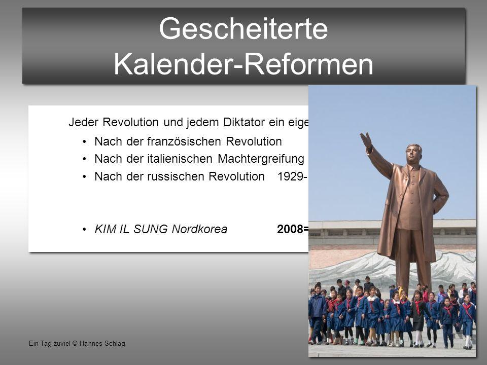 Gescheiterte Kalender-Reformen