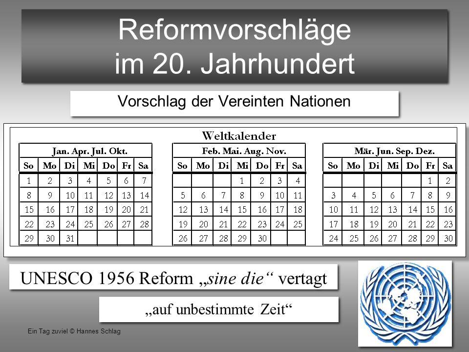 Reformvorschläge im 20. Jahrhundert