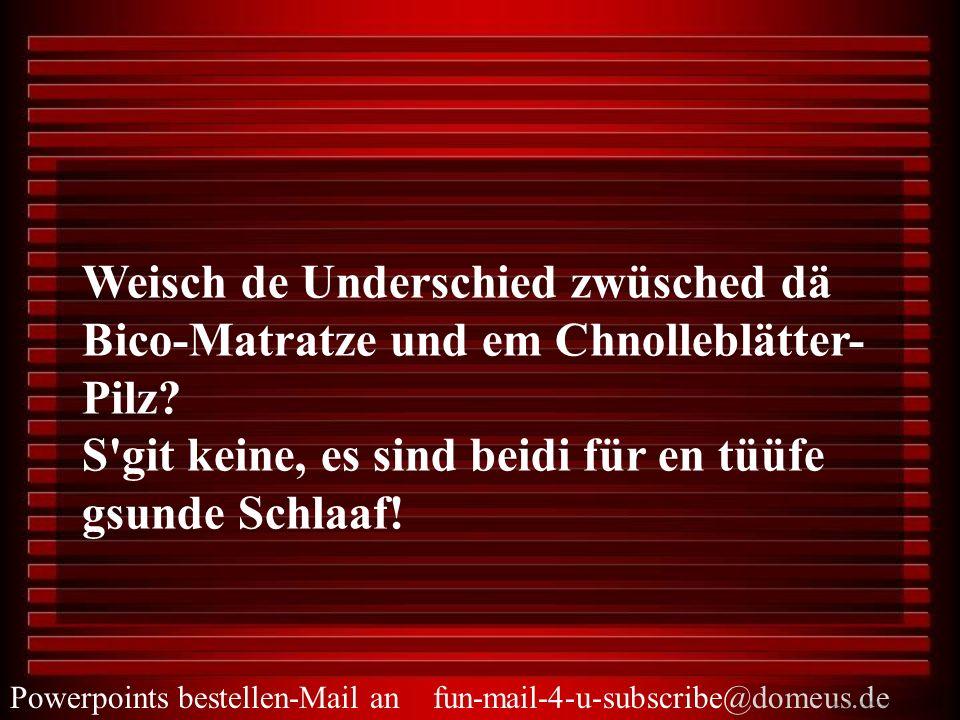 Weisch de Underschied zwüsched dä Bico-Matratze und em Chnolleblätter-Pilz