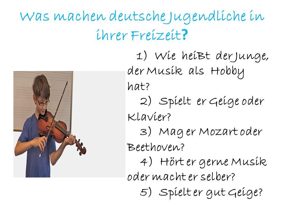 Was machen deutsche Jugendliche in ihrer Freizeit
