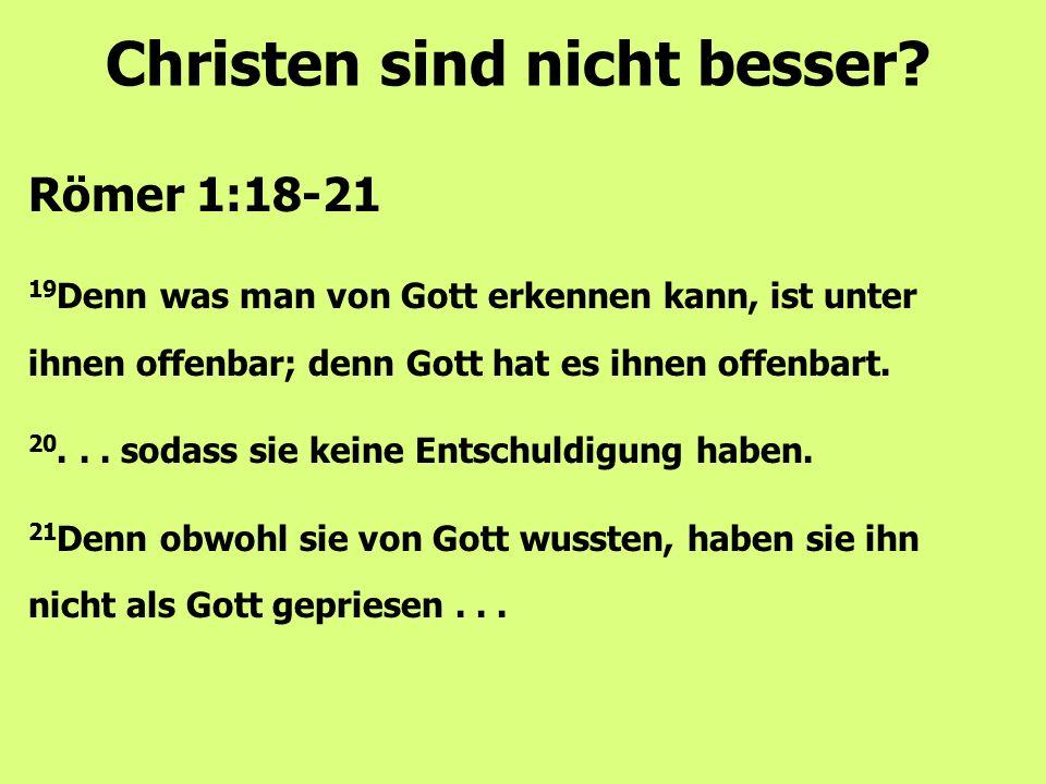 Christen sind nicht besser