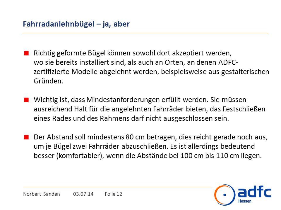 Informationen ADFC-Informationen zum Fahrradparken: