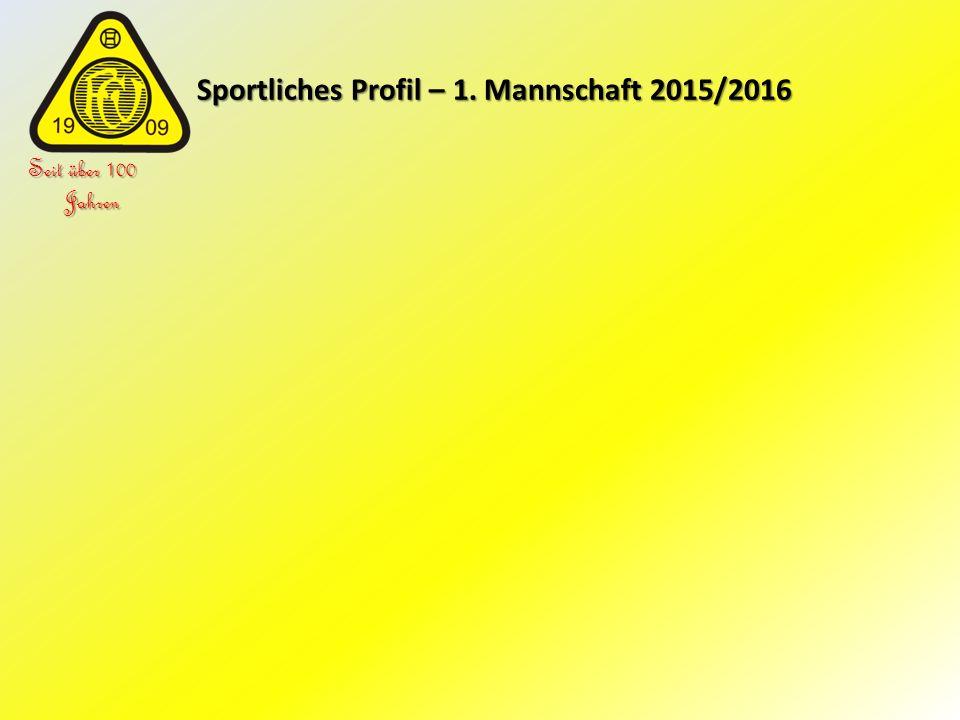 Sportliches Profil – 1. Mannschaft 2015/2016