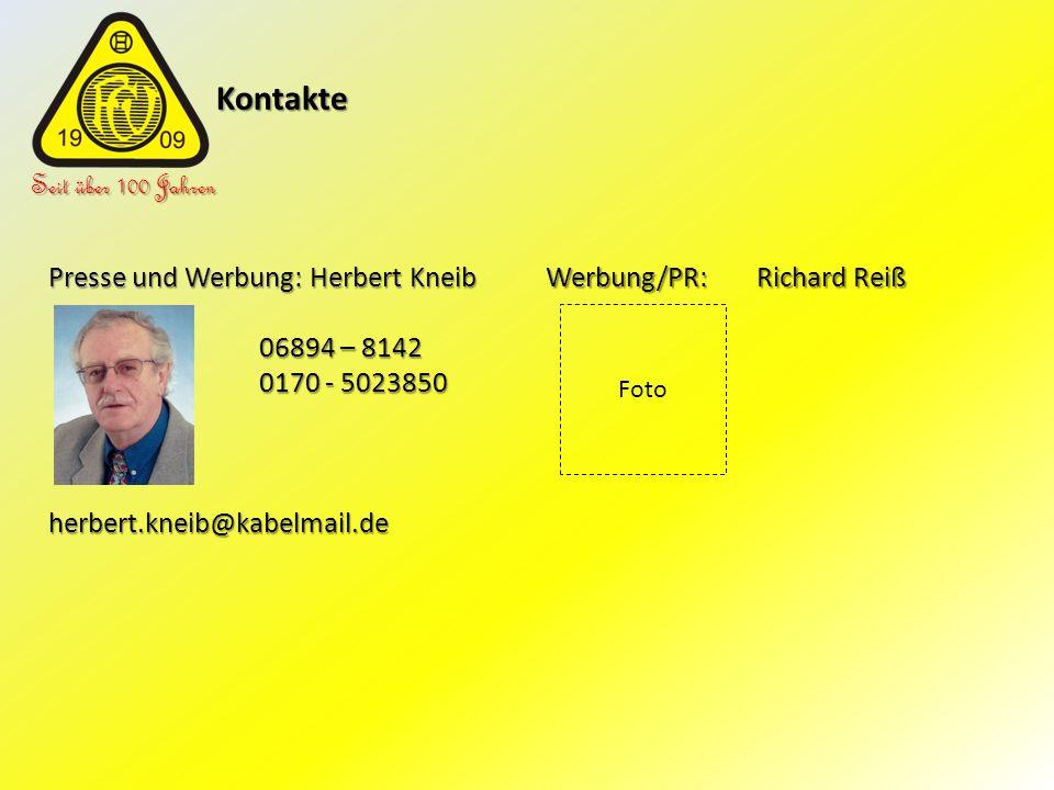 Kontakte Seit über 100 Jahren Presse und Werbung: Herbert Kneib