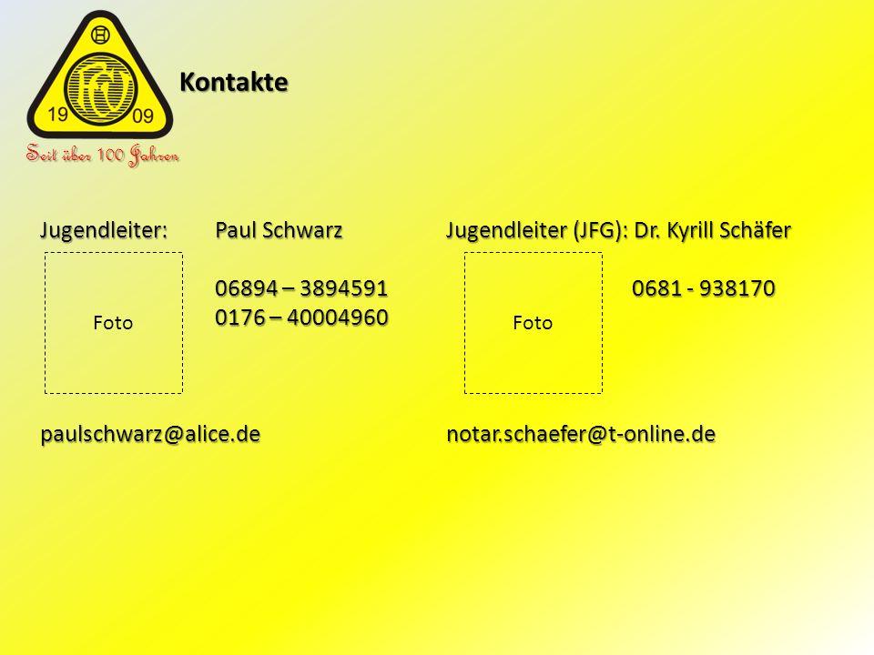 Kontakte Seit über 100 Jahren Jugendleiter: Paul Schwarz