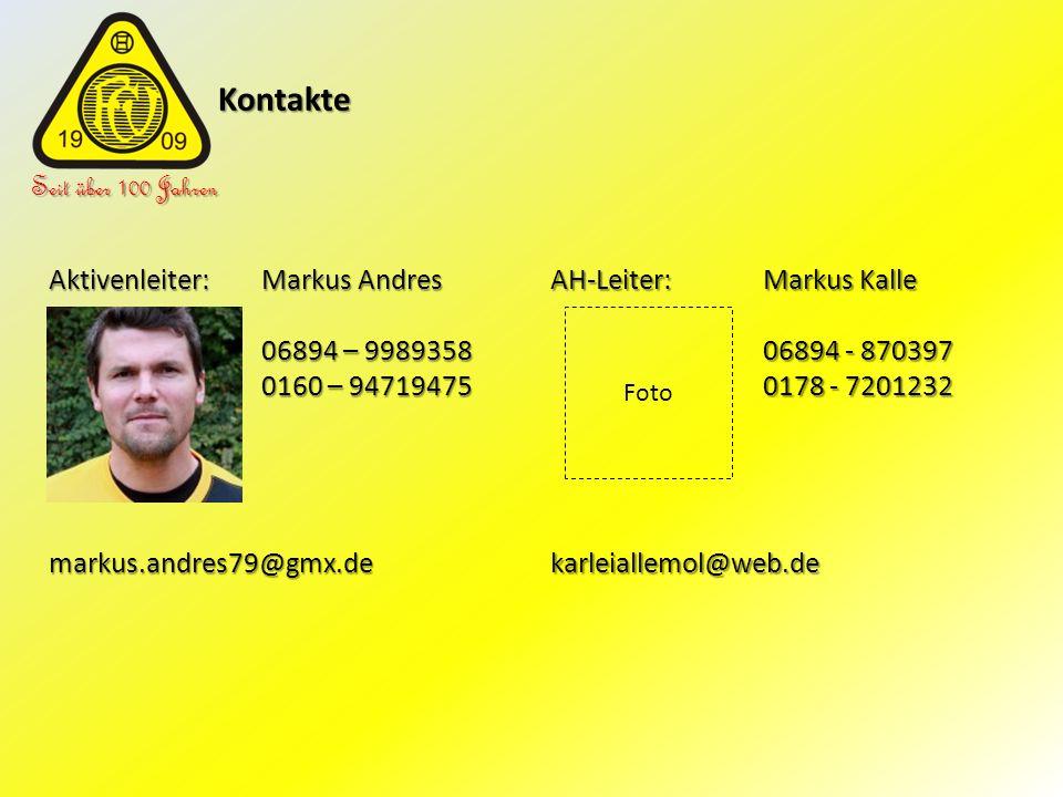 Kontakte Seit über 100 Jahren Aktivenleiter: Markus Andres