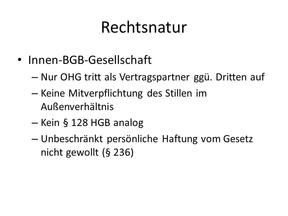 Rechtsnatur Innen-BGB-Gesellschaft