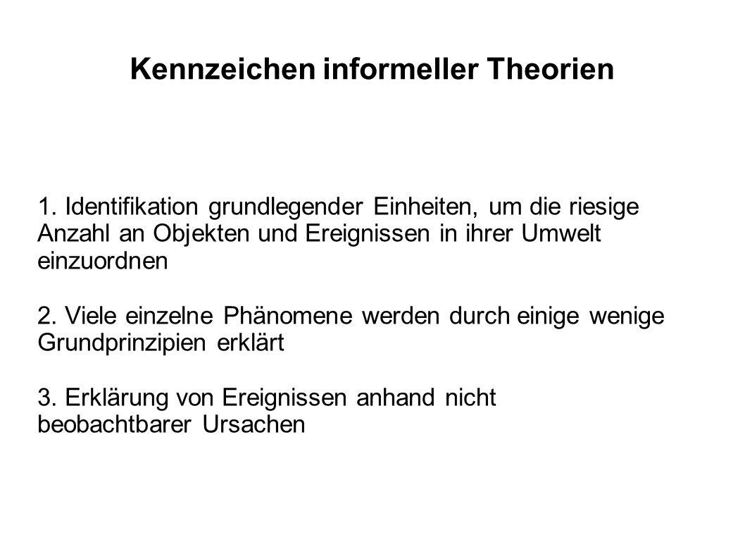 Kennzeichen informeller Theorien