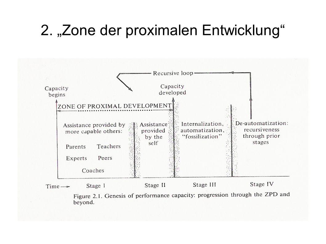 """2. """"Zone der proximalen Entwicklung"""