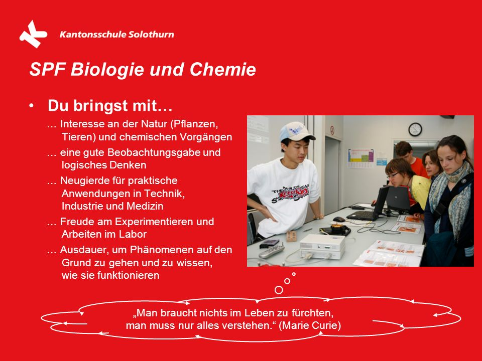 SPF Biologie und Chemie