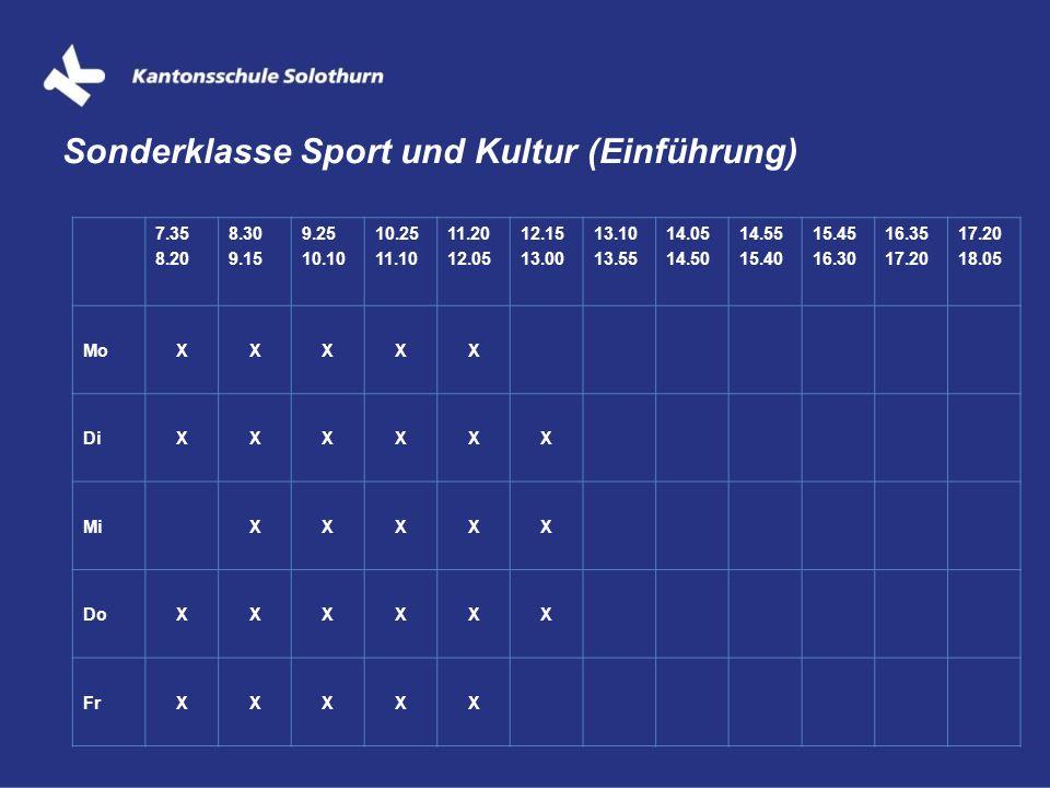 Sonderklasse Sport und Kultur (Einführung)