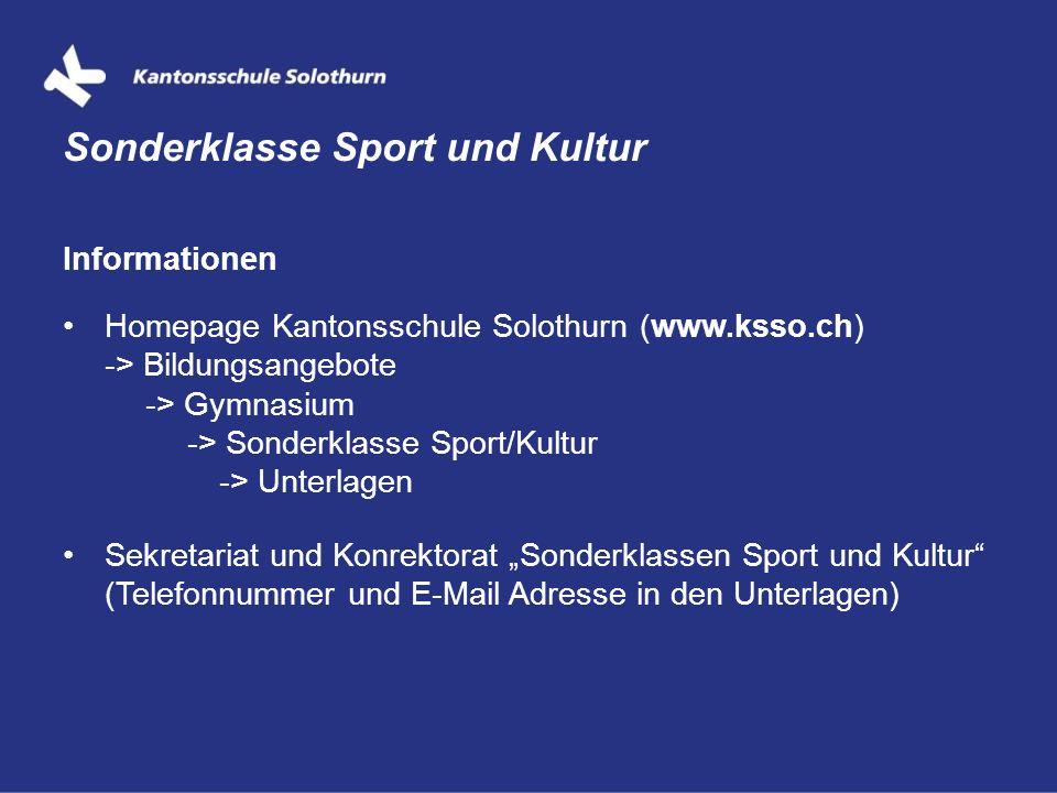 Sonderklasse Sport und Kultur