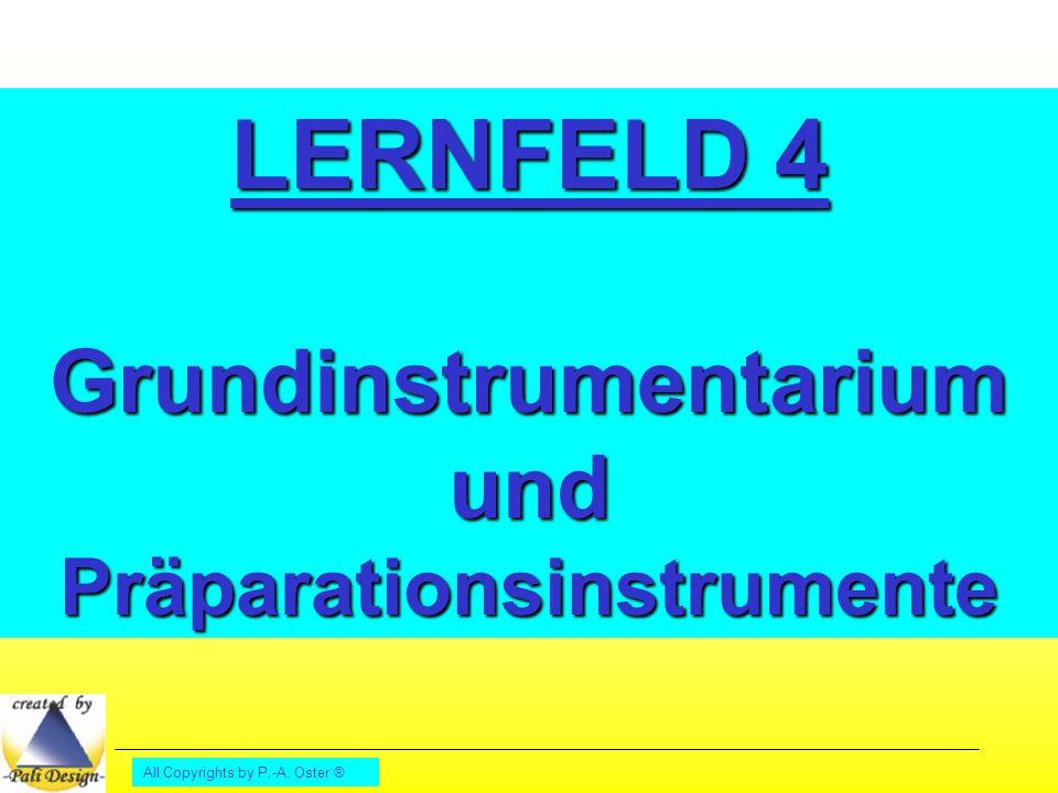 Grundinstrumentarium und Präparationsinstrumente