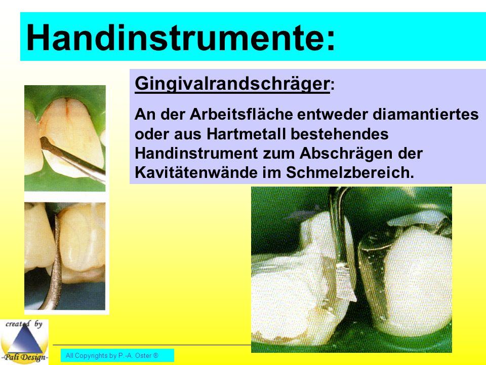 Handinstrumente: Gingivalrandschräger: