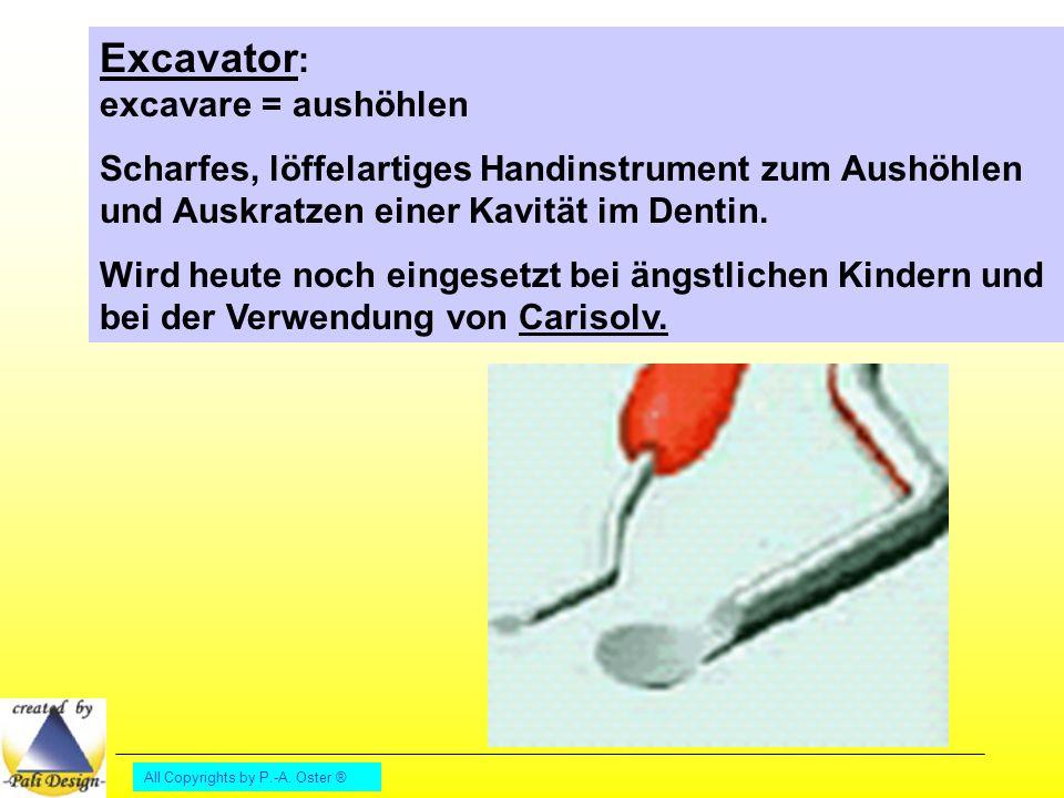 Excavator: excavare = aushöhlen