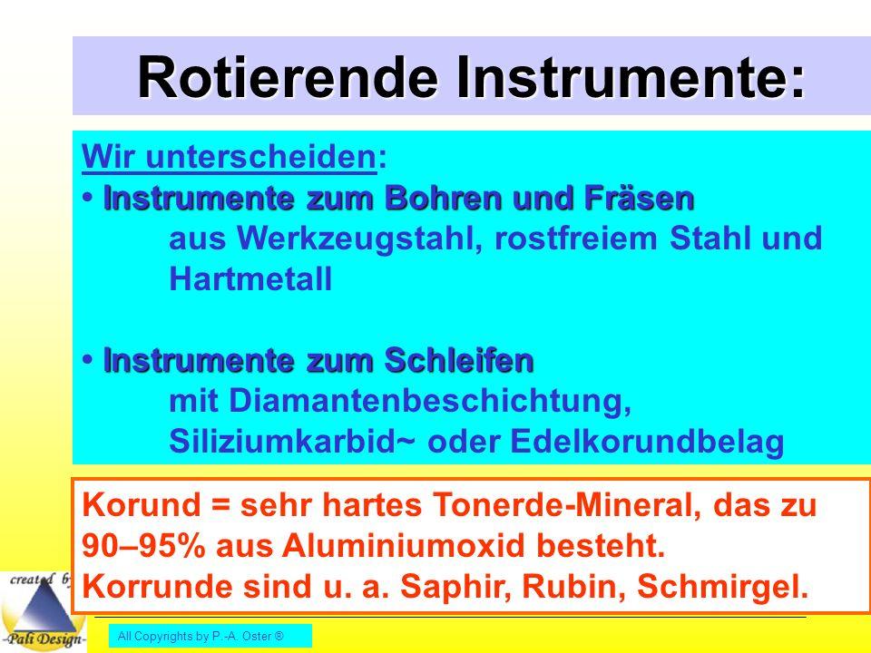 Rotierende Instrumente: