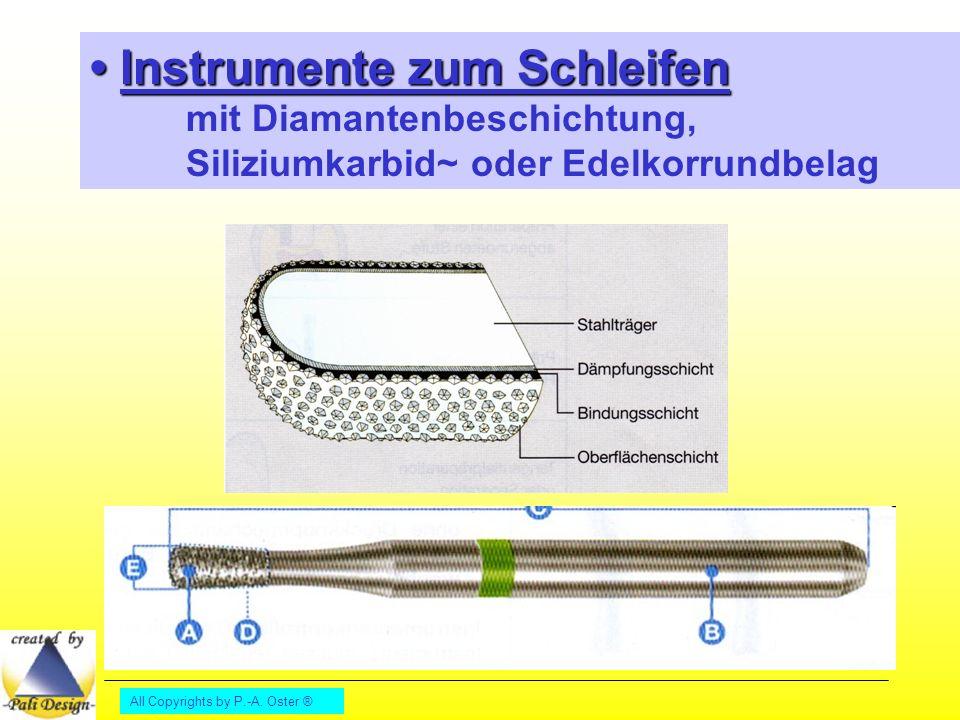 • Instrumente zum Schleifen