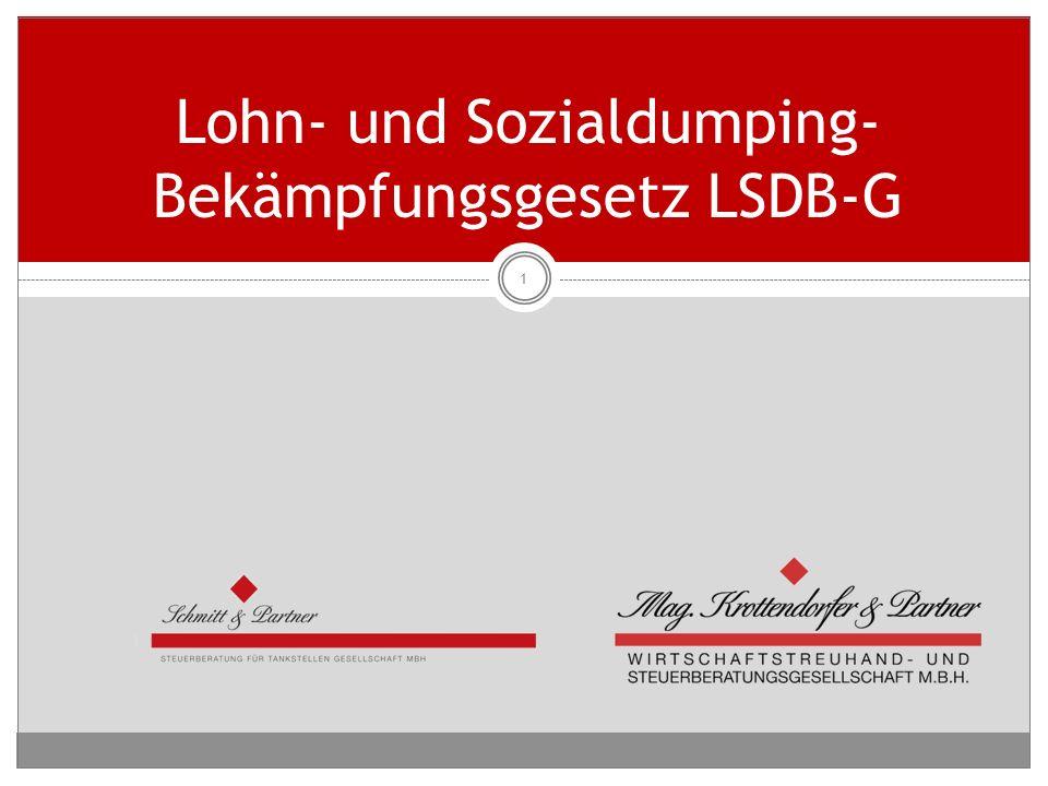 Lohn- und Sozialdumping-Bekämpfungsgesetz LSDB-G