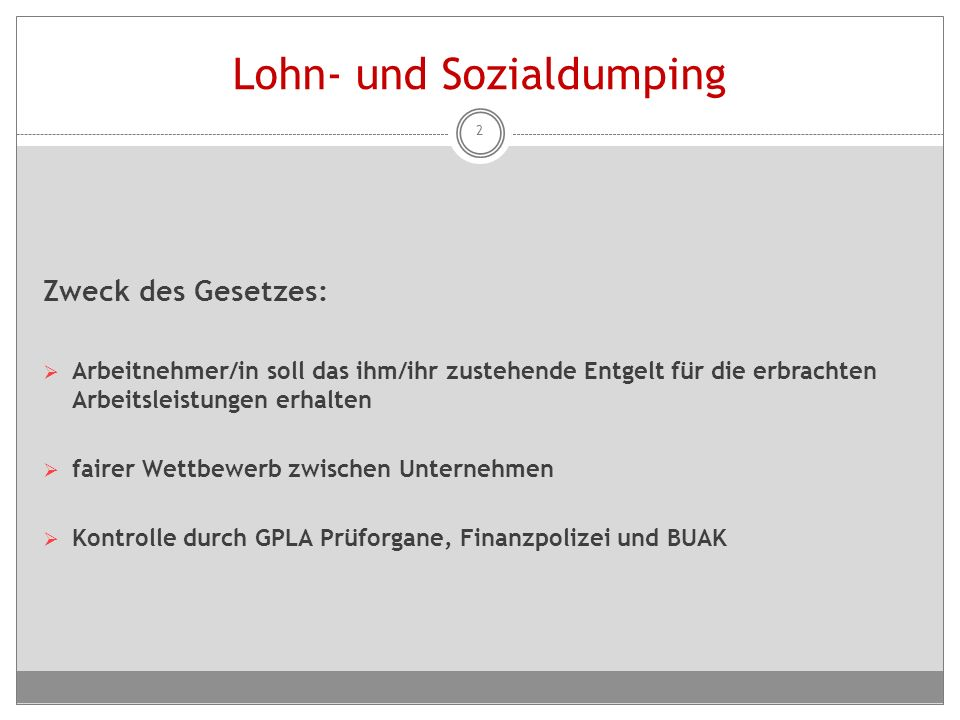 Lohn- und Sozialdumping
