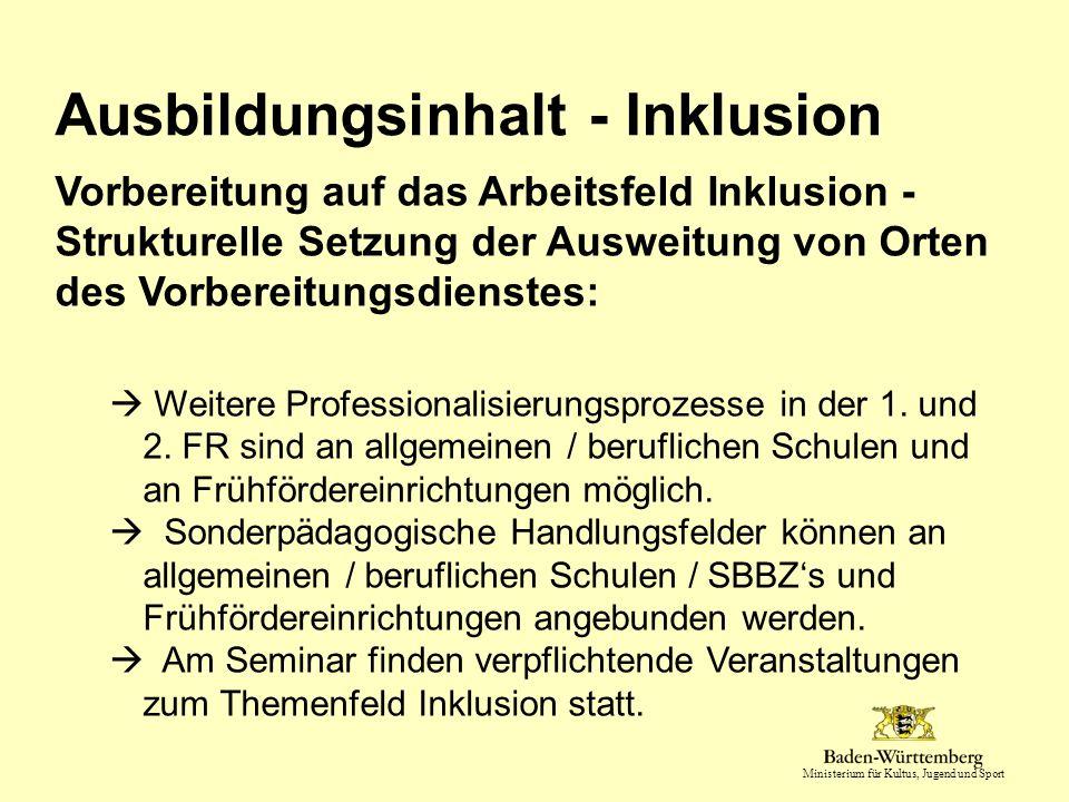 Ausbildungsinhalt - Inklusion