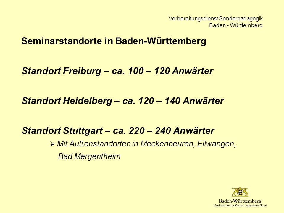 Seminarstandorte in Baden-Württemberg