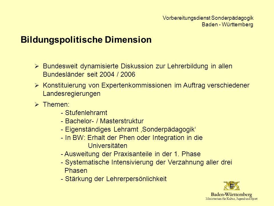 Bildungspolitische Dimension