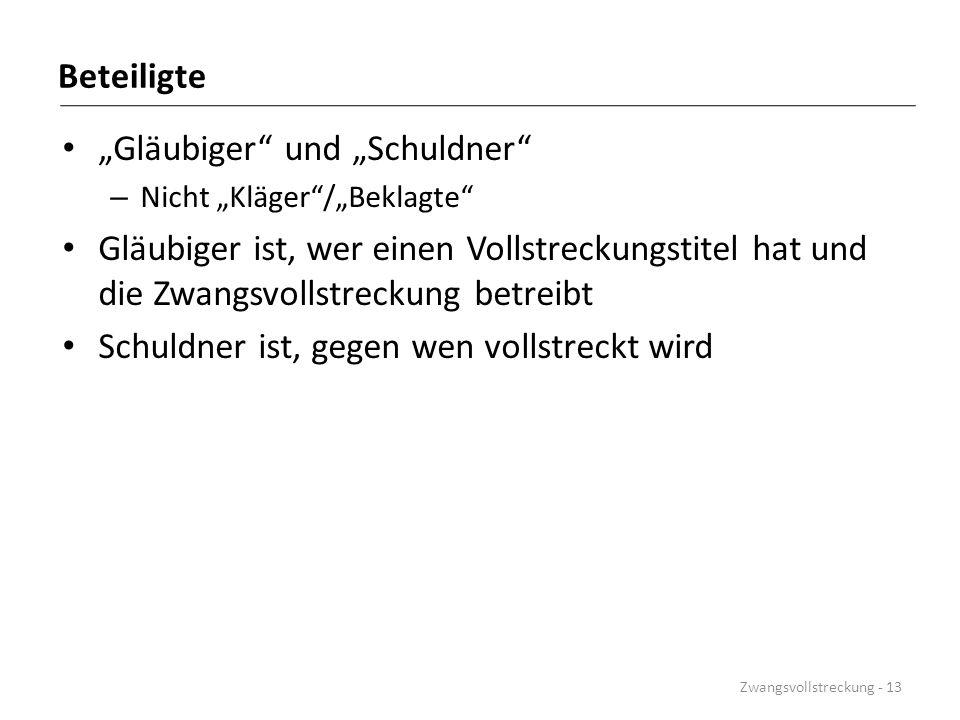 """""""Gläubiger und """"Schuldner"""