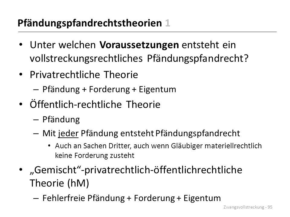 Pfändungspfandrechtstheorien 1