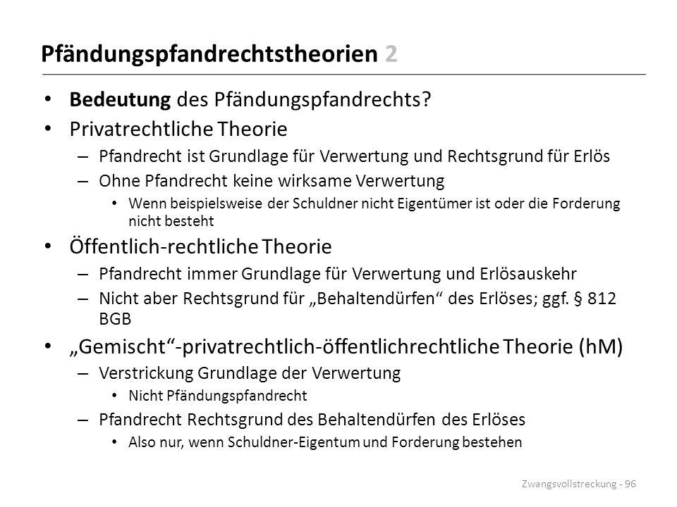 Pfändungspfandrechtstheorien 2