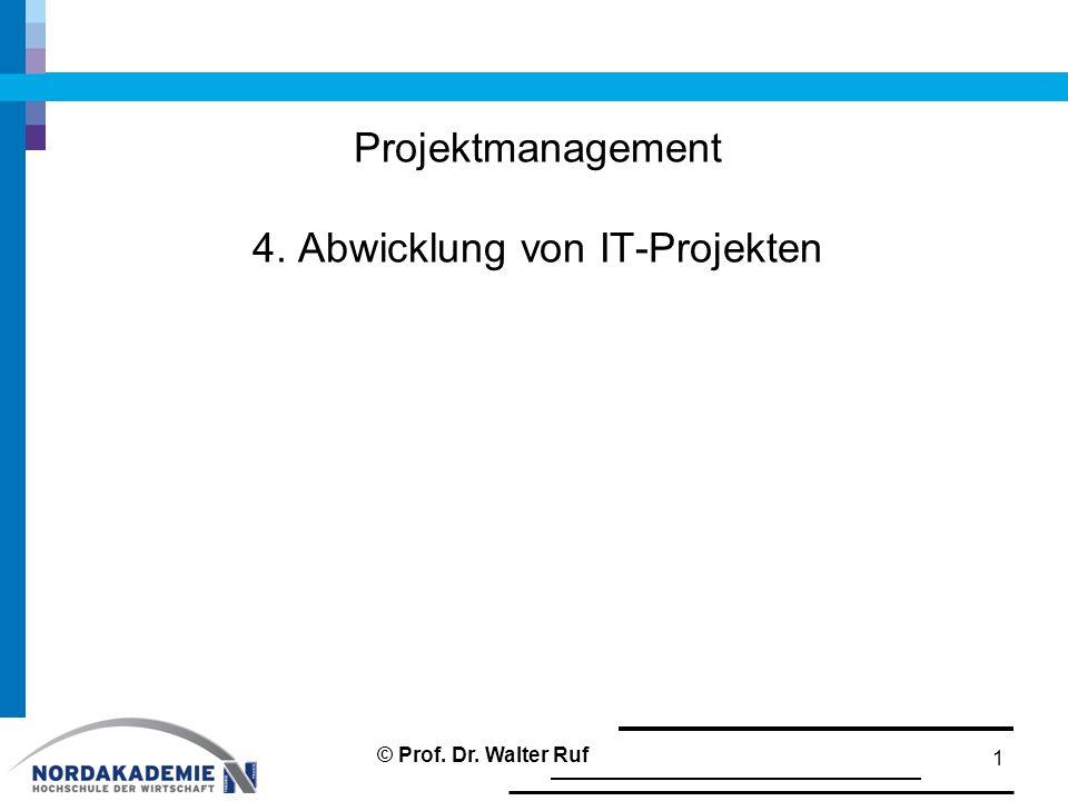 Projektmanagement 4. Abwicklung von IT-Projekten