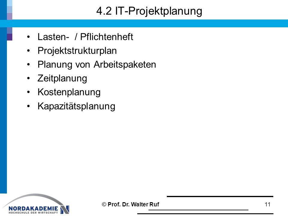 4.2 IT-Projektplanung Lasten- / Pflichtenheft Projektstrukturplan