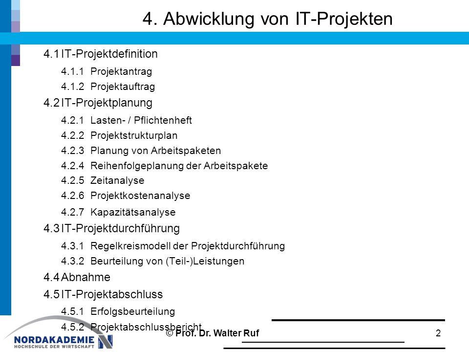 4. Abwicklung von IT-Projekten