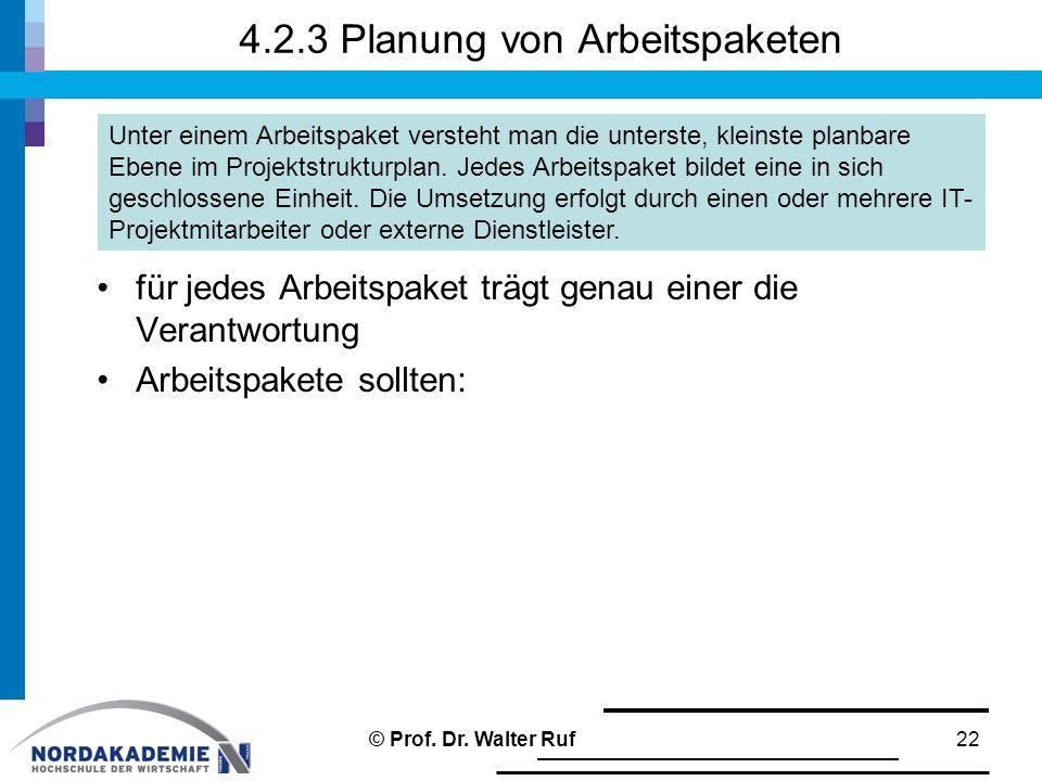 4.2.3 Planung von Arbeitspaketen