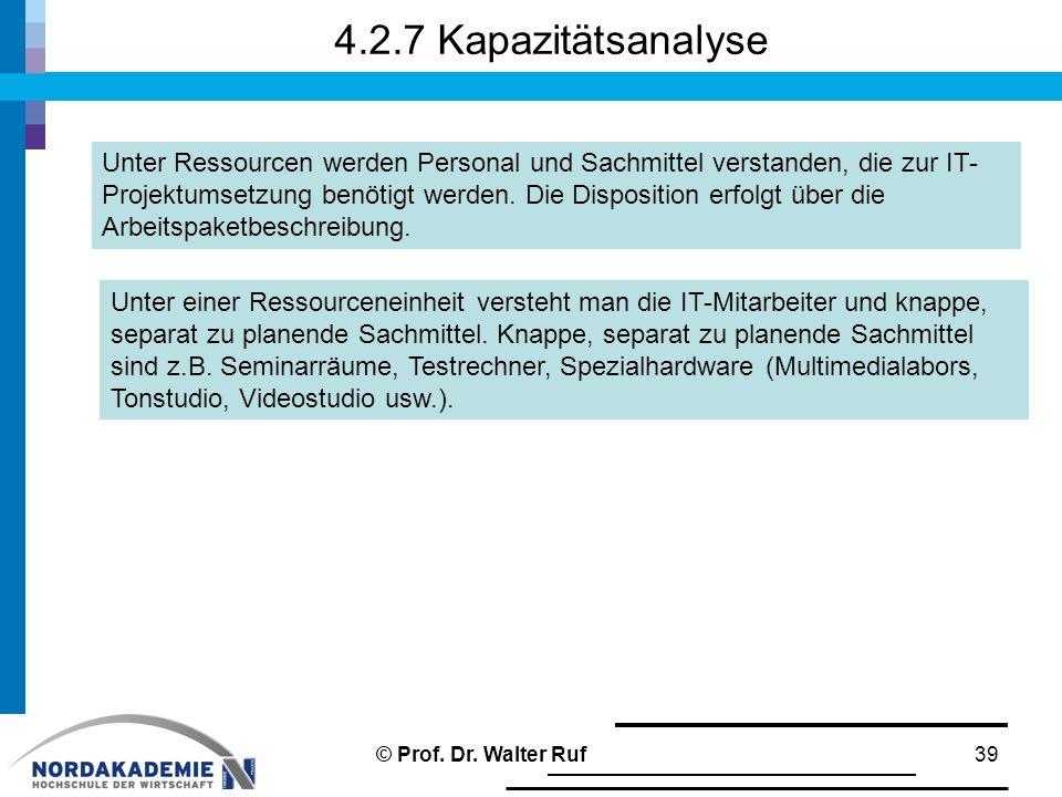 4.2.7 Kapazitätsanalyse