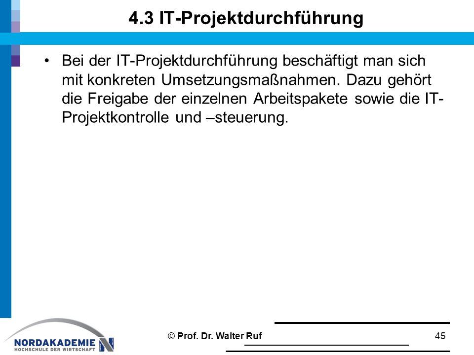 4.3 IT-Projektdurchführung