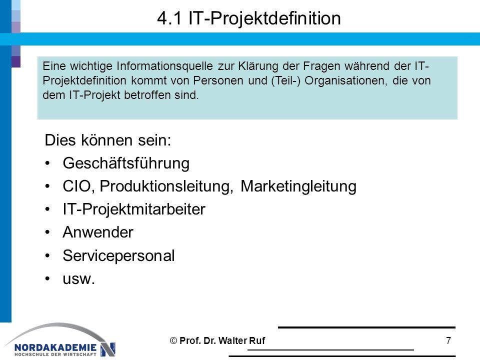 4.1 IT-Projektdefinition