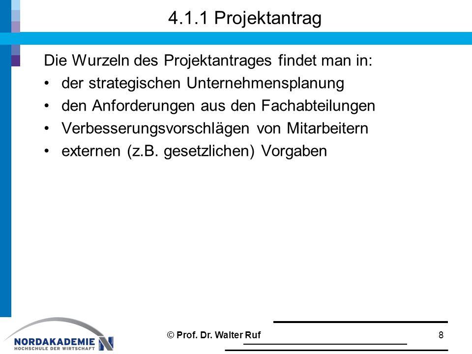 4.1.1 Projektantrag Die Wurzeln des Projektantrages findet man in: