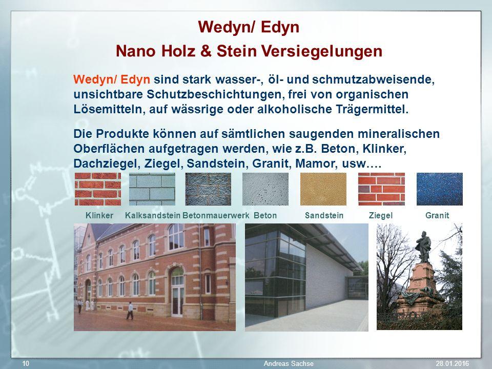 Nano Holz & Stein Versiegelungen
