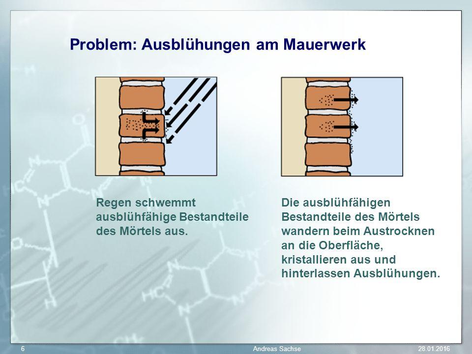 Problem: Ausblühungen am Mauerwerk