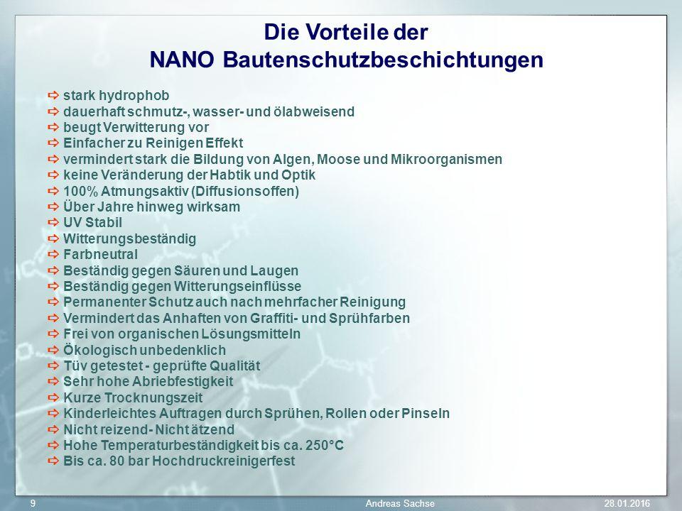 Die Vorteile der NANO Bautenschutzbeschichtungen