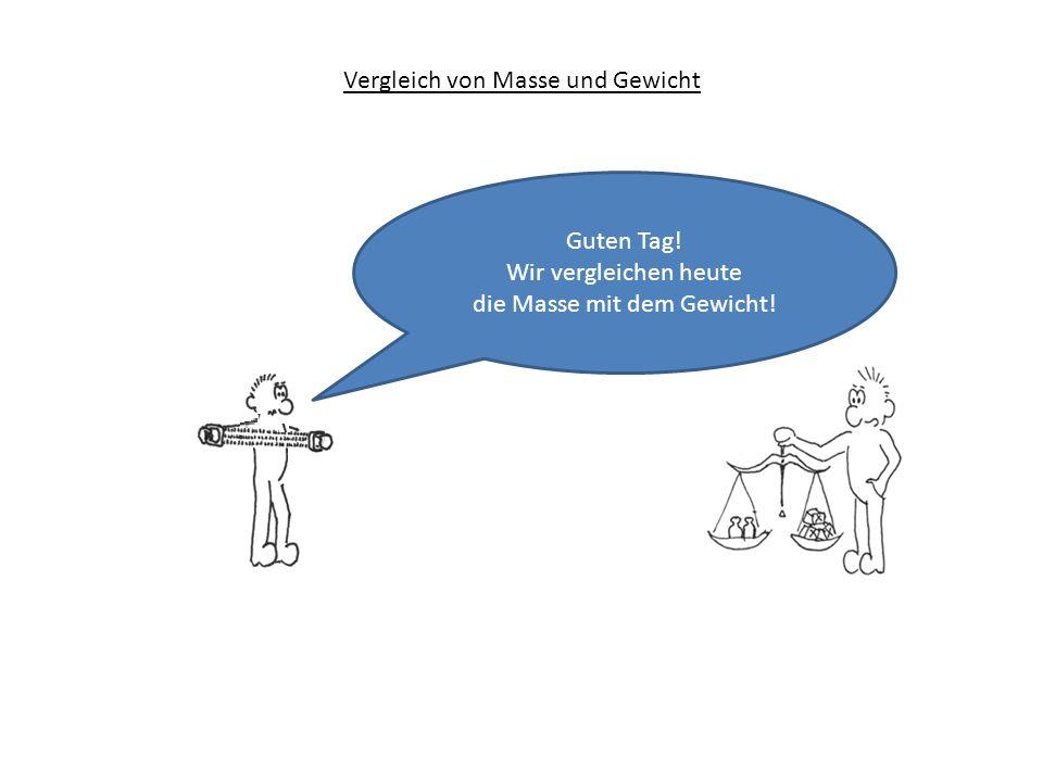 Vergleich von Masse und Gewicht