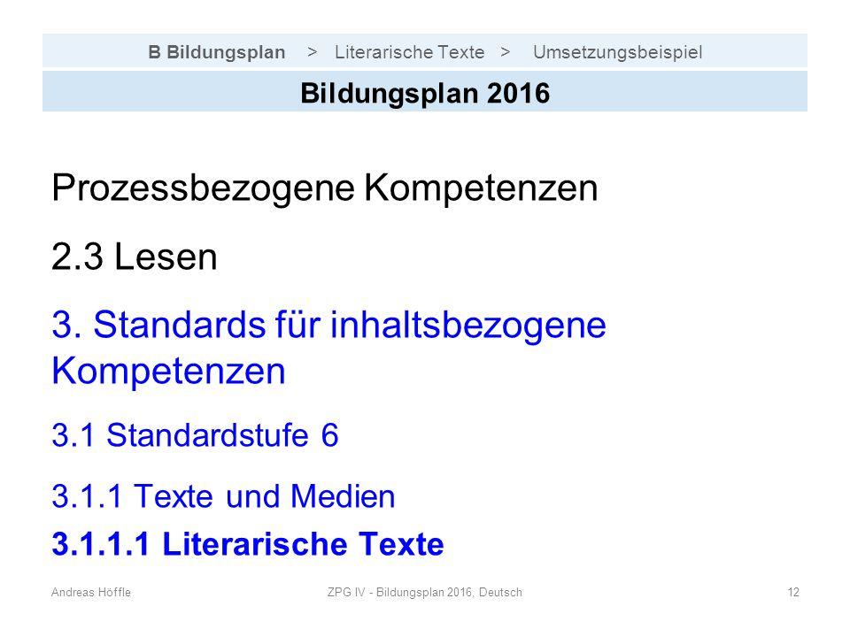 B Bildungsplan > Literarische Texte > Umsetzungsbeispiel