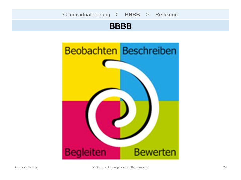 C Individualisierung > BBBB > Reflexion