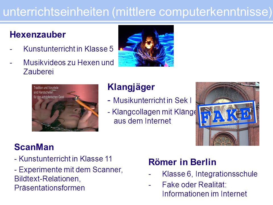 unterrichtseinheiten (mittlere computerkenntnisse)