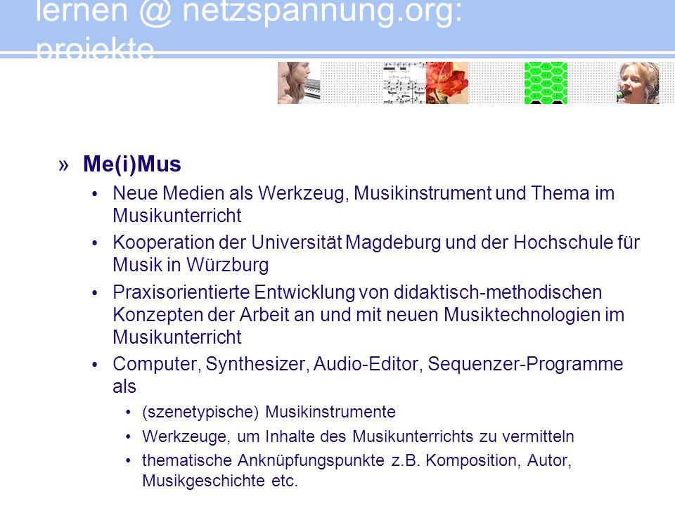 lernen @ netzspannung.org: projekte