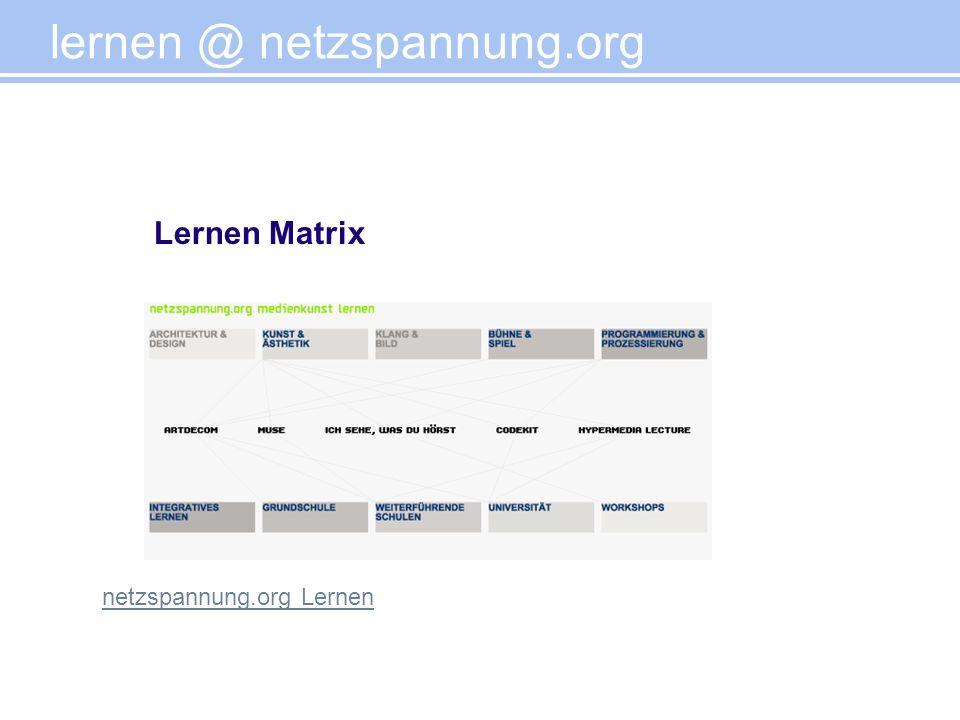 lernen @ netzspannung.org