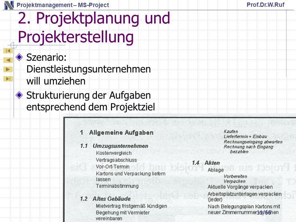 2. Projektplanung und Projekterstellung