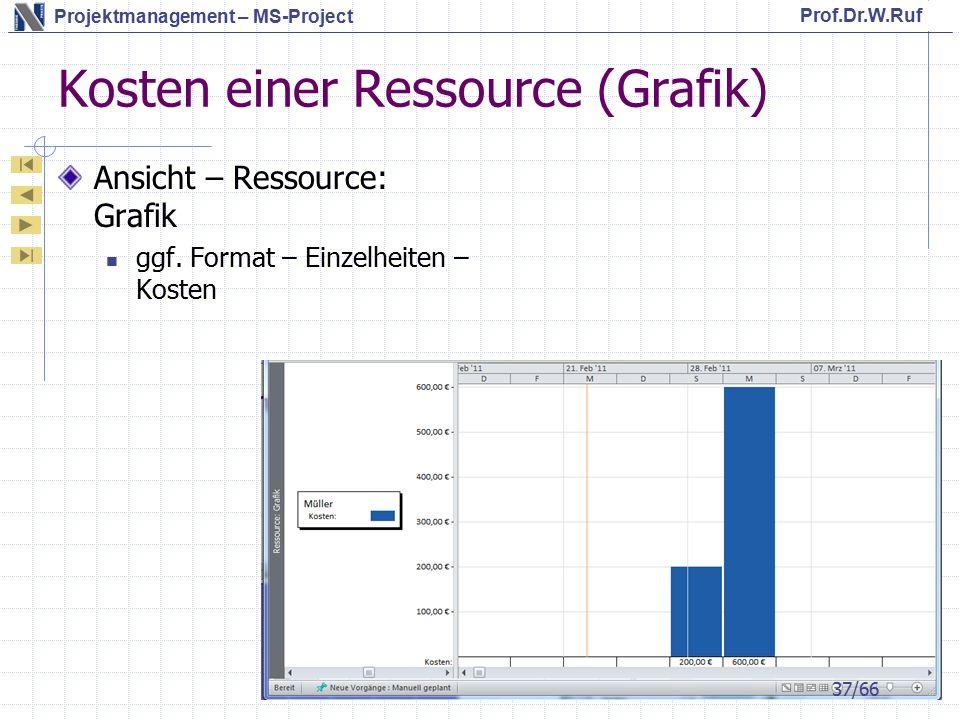 Kosten einer Ressource (Grafik)