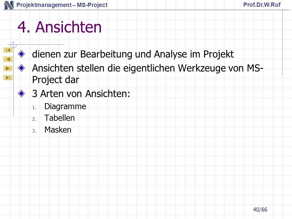 4. Ansichten dienen zur Bearbeitung und Analyse im Projekt