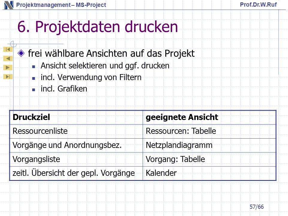 6. Projektdaten drucken frei wählbare Ansichten auf das Projekt